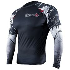 Hayabusa Tech Falcon Long Sleeve Rashguard (Black) - bjj ufc mma