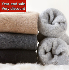 5 Pairs New Pure &  Warm & Comfortable Mens Wool Cashmere Socks One Size Fit 6-9