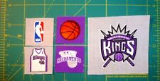 Fabric Appliques made with SACRAMENTO KINGS NBA licensed materials OPTIONS