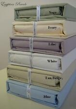 300 Thread Count 4pc Percale Solid Sheet Set 100% Egyptian Cotton KING SIZE