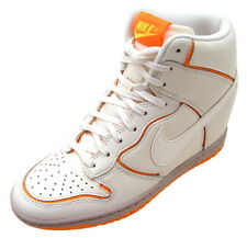 NEW Nike Dunk Sky Hi Womens Hidden Wedge Shoes White 7 7.5 8