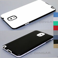 Ultra-Thin Soft Rubber Matte Bumper Case Cover For Samsung Galaxy Note 3 + Film