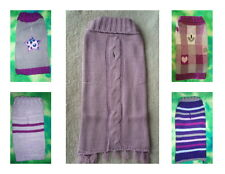 Pet Pullover Sleeveless Knit Purple Color Theme Puppy Dog Sweater M S XS