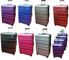 HARD SHELL 4 WHEELS EXPANDABLE SPINNER ABS TROLLEY LUGGAGE CABIN SIZE SUITCASE