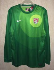 NEW Mens L NIKE US National Team Green Authentic GK Goalkeeper Soccer Jersey