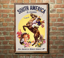 Pan Am South America #2 - Airline Travel Poster [6 sizes, matte+glossy avail]