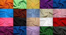 """Polar Fleece Fabric 20 Solid Colors Anti-Pill 58""""-60"""" Soft Blanket Craft BTY"""