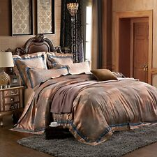 Satin New bed in a bag Duvet Cover flat sheet Pillowcases Full Queen KL14092103