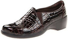 CLARKS MAY ORCHID BROWN CROC LEATHER LOAFERS 62933 Womens Size 6 7 8 9 10 11