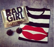 New trend  BAD GIRL clutch bag IN PINK AND BLACK