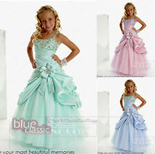 Straps Princess Birthday Bridesmaid Wedding Dance Pageant Gown Flower Girl Dress