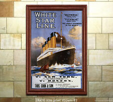 Titanic White Star Line #2 - Sailing Notice Travel Poster