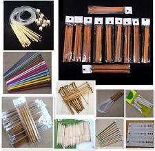 11 Style Aluminum Metal Bamboo Double Single Pointed Knitting Needles Set Tools