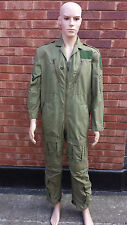 Original RAF Aircrew MK14A Overalls Pilots Flying Suit OD/Green Size 8