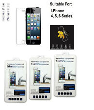 IPHONE 4, 5, 6 GORILLA STYLE TEMPERED GLASS SCREEN PROTECTOR. LOT . USA SELLER