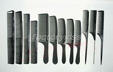 Salon Hair-Cutting Hair Styling Hairdressing Carbon Antistatic Detangle Comb FKS