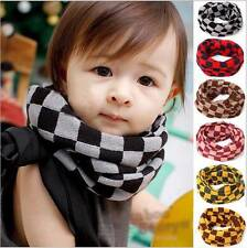 Lattice Girls Boy Kids Child Winter Knitted Neck Warm Scarf Scarves Snood Tube A