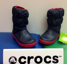 "Crocs ""Winter Puff "" Boots In Navy"