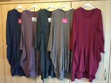 PLUS Italian layering lagenlook Cocoon parachute dress Cotton tunic  pockets