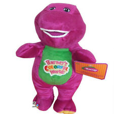 "Barney Dinosaur 8"" 12"" Sing I LOVE YOU song Purple Plush Soft Toy Doll NEW"