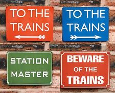 Metal Railway Signs | British Rail | To The Trains | Station Master etc | Gift