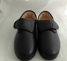 MENS FAUX LATHER VELCRO COSY COMFY SLIPPERS SIZE 7-11