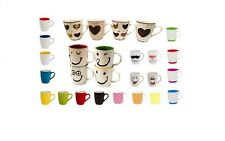 Set of 2 4 6 8 12 Colourful Desgin Mugs For Tea Coffee Hot Chocolate Drink Cups