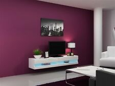 High Gloss TV Stand with LED / TV Cabinet / Modern TV Wall Unit VIGO White