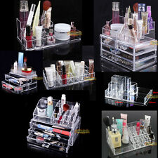 Makeup Case Cosmetic Organizer Drawers Home Jewelry Storage Acrylic Container