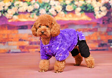 dog Clothes Purple sequined warm  Puppy winter Shu Velveteen Tetrapod clothing