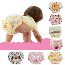 Baby Girl Infant Kids Pee Potty Training Pants Diaper Underwear Reusable Nappy