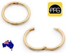 New 22ct Gold Plated Sterling Silver Sleepers Hinged Hoop Non Allergic Earrings