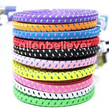 8 Pin USB Cable Flat Braided Charge Sync Data Cord for iPhone 6 6 Plus iPhone 5