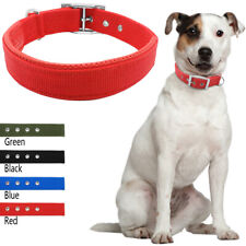 New Buckle Nylon Soft Padded Liner Neck Protect Dog Pet Collars Heavy Duty