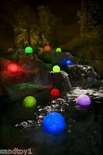 6 9 12 or 21pc Floating Color-Changing LED Glitter Globe Lights Patio Pool Table