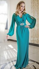 Long Party Evening Ladies Women Cocktail Full Maxi Formal Prom Dress Size 8 - 18