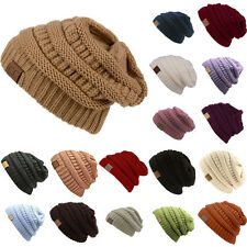 Women's Slouch Beanie Cap Oversize Soft Stretch Knit Baggy Ski Hat Unisex Hats