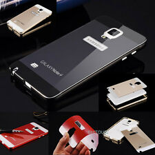 Aluminum Ultrathin Metal Case Acrylic Back Cover For Samsung Galaxy S4 S5 Note 4