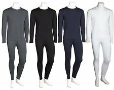 Men's Ultra-Soft Fleece Brush Lined Thermal Top & Bottom Long John Underwear Set