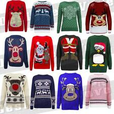 Ladies Mens Christmas Jumper SALE Knitted Xmas Tops Gift Cheap Present Girls