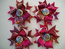 Metallic princess Butterfly hairbows hair bows 2 count