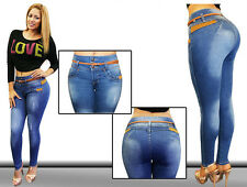 Colombian Design High Waist Rise Push-up Levanta Cola Butt Lift Skinny Jean M876