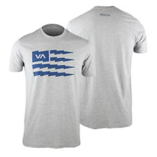 RVCA VA Sport Flag Bolt T-Shirt (Gray/Blue) - mma surf skate