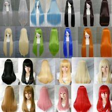 "24"" 32""  Multi-colors Women's Long Heat-resistant Straight Full Wigs (25 Colors)"