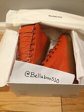 Balenciaga Arena Sneaker in Orange Electrique SS15