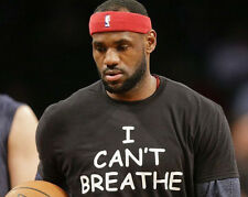 I Can't Breathe T-Shirt Lebron James Justice Eric Garner NYPD Police cant S-4X