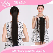 "1PC 24"" Girl's Synthetic Hairpiece Long Straight Ponytail Hair Extensions P001"