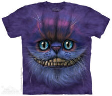 Big Face Cheshire Cat Adult T Shirt Adult Unisex Mountain