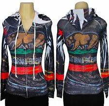 Women's Hoodie California Republic All Over Print Sublimation Jacket Sweatshirt