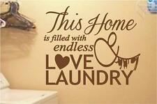 Endless Love and Laundry   Wall Decals Quotes   Room Vinyl Stickers